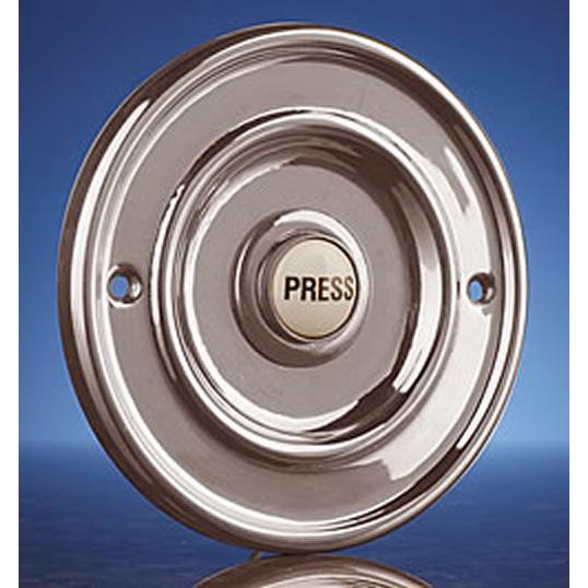 "diam 2.5/"" 63mm Flush Fitting Chrome Doorbell button"