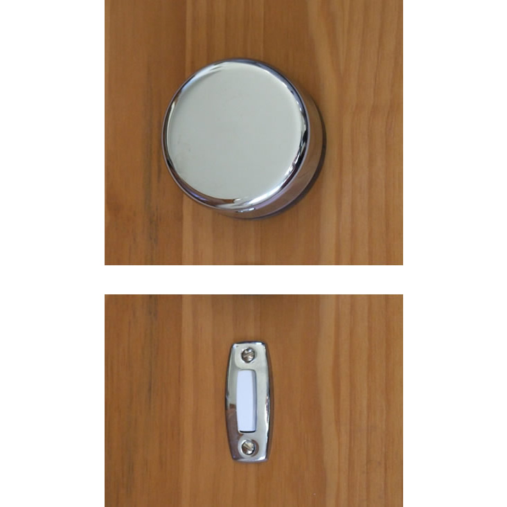 Bon Imperial Wind Up Mechanical Doorbell, Chrome