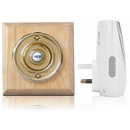 Byron Period Style Plug-in Wireless Doorbell, Natural/Brass