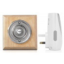 Byron Period Style Plug-in Wireless Doorbell, Natural/Chrome