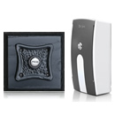 Byron Period Style Portable Wireless Doorbell, Ash/BlackR