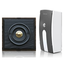 Byron Period Style Portable Wireless Doorbell, Ash/BlackB