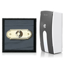 Byron Period Style Portable Wireless Doorbell, Ash/BrassRp
