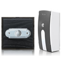 Byron Period Style Portable Wireless Doorbell, Ash/ChromeRp