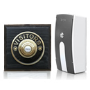 Byron Period Style Portable Wireless Doorbell, Ash/BrassVB