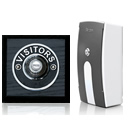 Byron Period Style Portable Wireless Doorbell, Ash/ChromeVC