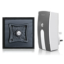 Byron Period Style Plug-in Wireless Doorbell, Ash/BlackR
