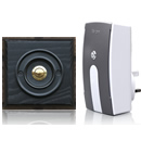 Byron Period Style Plug-in Wireless Doorbell, Ash/BlackB