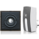 Byron Period Style Plug-in Wireless Doorbell, Ash/BlackC
