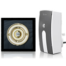 Byron Period Style Plug-in Wireless Doorbell, Ash/Brass