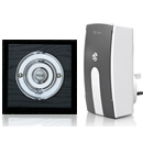 Byron Period Style Plug-in Wireless Doorbell, Ash/Chrome