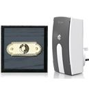 Byron Period Style Plug-in Wireless Doorbell, Ash/BrassRp