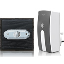 Byron Period Style Plug-in Wireless Doorbell, Ash/ChromeRp