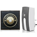 Byron Period Style Plug-in Wireless Doorbell, Ash/BrassVB