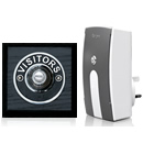 Byron Period Style Plug-in Wireless Doorbell, Ash/ChromeVC