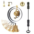 Period Style, Mechanical Butlers Bell Kit, Cast Brass, Iron Pull