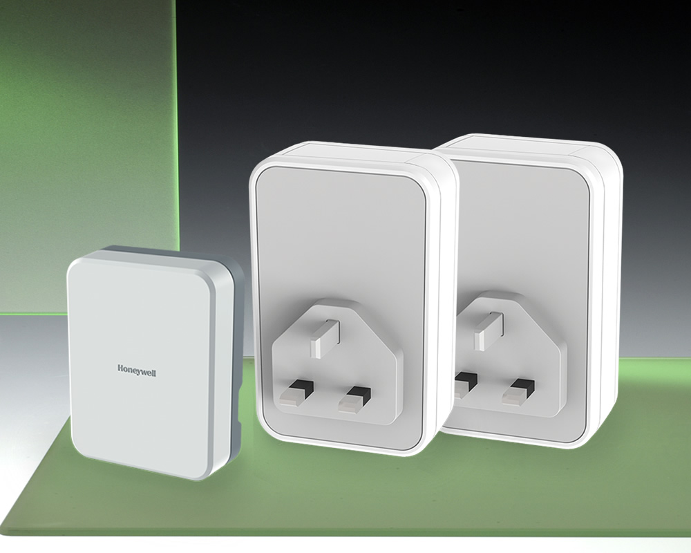 Honeywell 150m Wireless Twin Plug In Chime Wirefree Extender