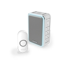 Honeywell 150m Wireless Portable With Halo Light Doorbell,Grey