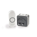 Honeywell 150m Wireless Plug-in With Sleep Mode Doorbell,Grey