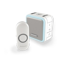 Honeywell 150m Wireless Portable With Sleep Mode Doorbell,White