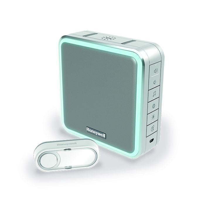 Honeywell 200m Wireless Portable Range Extender Doorbell,Grey,