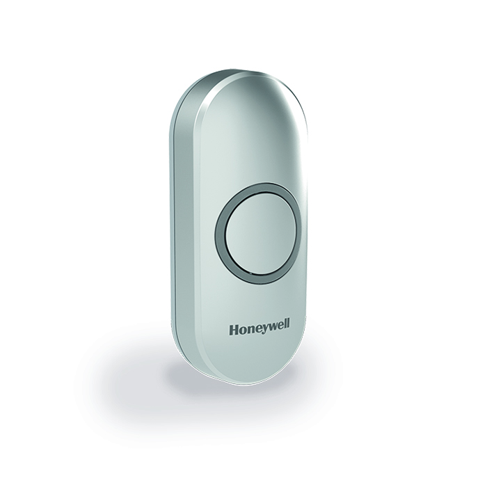 Honeywell Doorbell 200m Wireless Push Button, Grey,