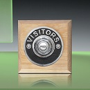 Period Style Wireless Chrome Visitors Push on Natural Oak Plinth