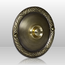 Wired Flush Fitting Bell Push in Antique Patinated Brass Finish