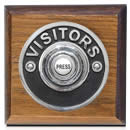 Byron Period Style Wireless Visitor Chrome Push on Tudor Oak