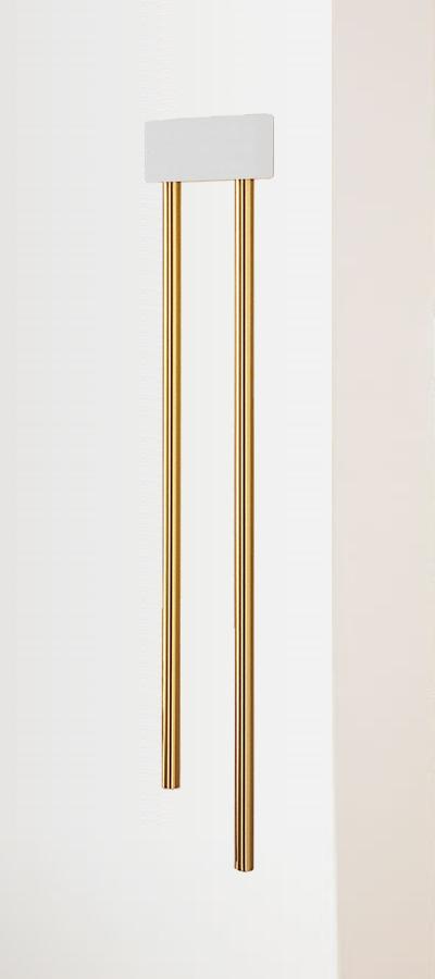 York Style Long Tubular Doorbell White With Brass Tubes