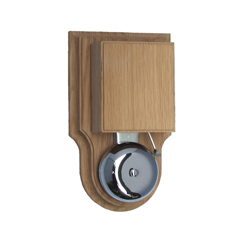 London Striker Chrome Doorbell/Buzzer, Natural Oak,
